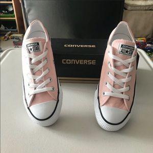 NIB Pink Leather Converse